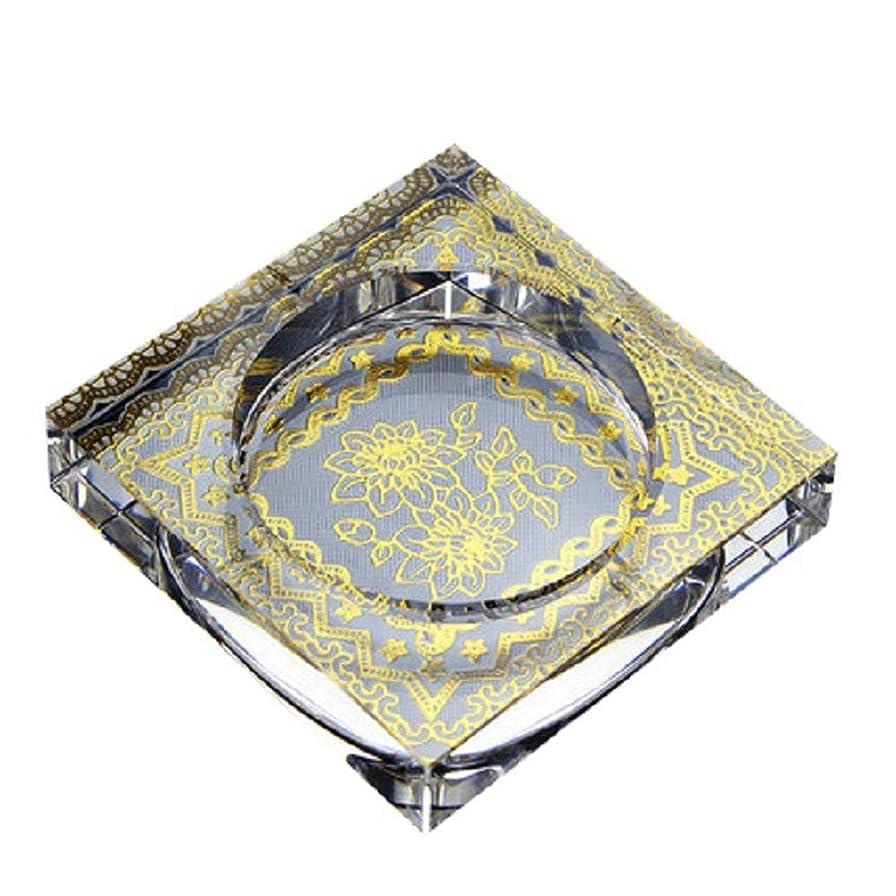 報酬の入場料協力的タバコ、ギフトおよび総本店の装飾のための灰皿の円形の光沢のある水晶灰皿