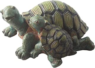 Emours Cute Turtle Aquarium Ornament Fish Tank Decoration Mother and Child Set