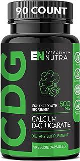 Calcium D-Glucarate 500mg| Natural Estrogen Blocker, Liver Detox Cleanse & Hormone Balance Supplement for Women and Men| S...