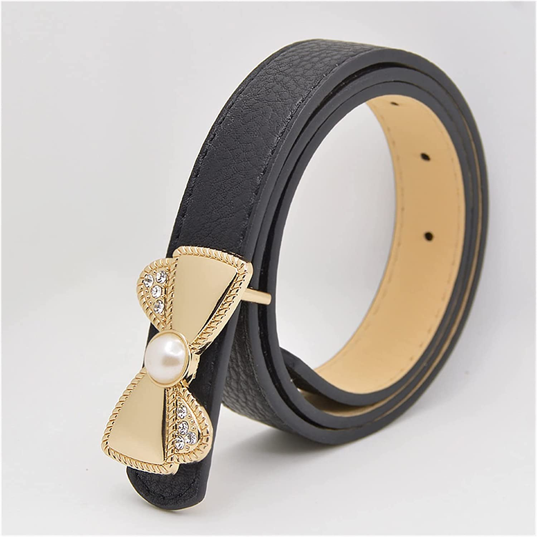 FUBINMY Ladies Belt New Children's Belt Fashion Leisure Designer Children's Belt of Boys and Girls Cowboy Belts Jeans Pure Color Waist Belt (Belt Length : 110cm, Color : Black)