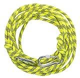 高強度ロープ 太さ: 10.5mm 長さ: 10m 収納袋セット アウトドア キャンプ 登山補助ロープ (黄 10.5mm x 10m フック有り)
