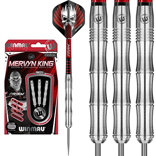Winmau Mervyn King Dartpfeile, 90 % Wolfram, Prism-Alpha-Flights und Prism-Force-Dartschaft, 22 g, 24 g, 26 g