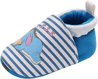 [BAOMABA] 子供靴 ベビーシューズ 幼児の靴 シングルシューズ 出かけ 旅行 パーティー つま先保護 滑り止め 軽量 柔らかい ソフトソール 弾性バンド ストライプ スプライシン お洒落 ガールズ
