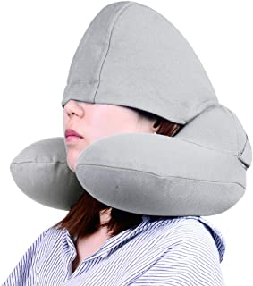 LITOON Inflatable Travel Pillow,Neck Pillow, Convertible Travel Neck Pillow for Airplane,Supports The Head,Neck and Chin,A...