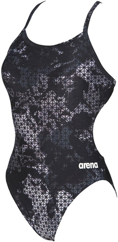 Arena Women's Star Flower Challenge MaxLife Thin Strap Open Back Onepiece Swimsuit