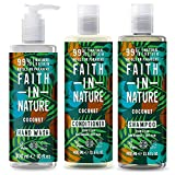 Faith in Nature - 100% natürliches Shampoo mit organischer Kokosnuss für alle Haartypen - für...