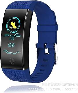 ZNMJW Reloj Inteligente,Monitoreo del Ritmo cardíaco, Deportes, Paso a Paso, información de Llamadas, recordando múltiples Modos de Deportes-Blue
