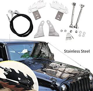 Limb Riser Kit fit for JK Jeep Wrangler 2007-2018 Through the Jungle Protector Obstacle Eliminate Rope Stainless Steel
