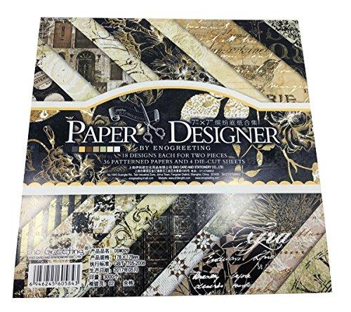 Gnognauq 40Pcs Multi-Colored Designer Paper Decorative Craft Paper for Creative Scrapbooking and Cards,7