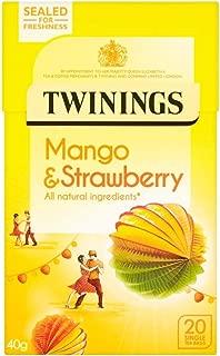 Twinings Mango & Strawberry 20 Tea Bags, (4 Boxes)