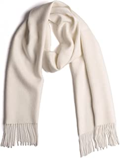 100% Pure Baby Alpaca Wool Scarf, Solid Natural Dye-free Colors
