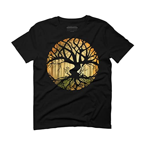 0a8a041e6 Design By Humans Druid Tree Men's Graphic T-Shirt
