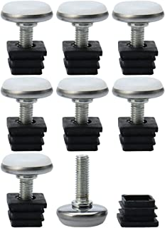 threaded square tube inserts