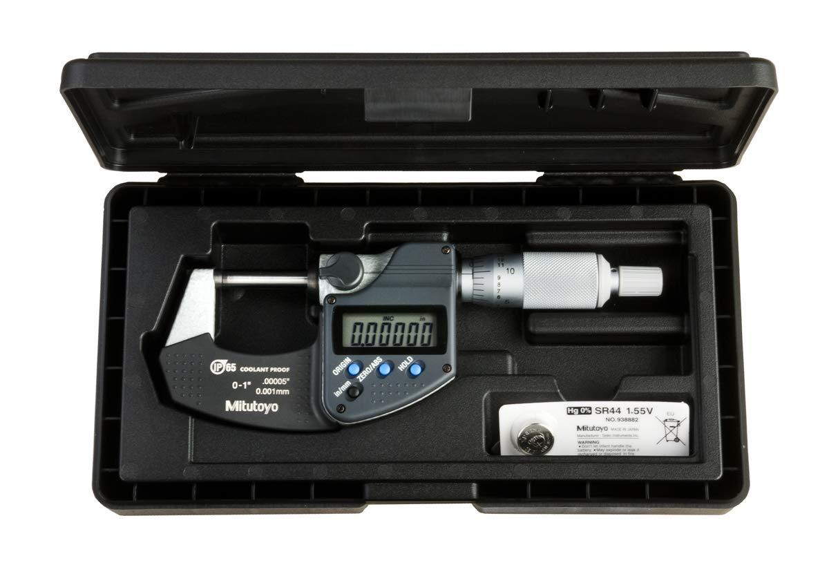 Samfoxy Micrometer-Samfox Micr/ómetro electr/ónico Exterior 0.001 mm Micr/ómetro 0~25 mm Micr/ómetro Micr/ómetro Digital