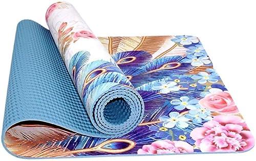 Personnalisé Imprimé Tapis De Yoga élargissement Antidérapant épaissir Fitness Danse Pilates Bébé Rampant en Plein Air Portable 5 Styles en Option