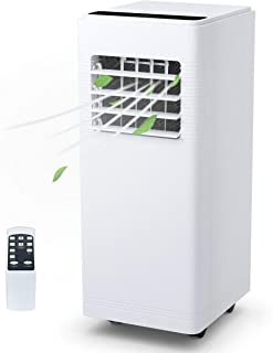 COSTWAY 12000 BTU Portable Air Conditioner with Remote Control Dehumidifier Function Window Wall Mount (White-12000BTU)