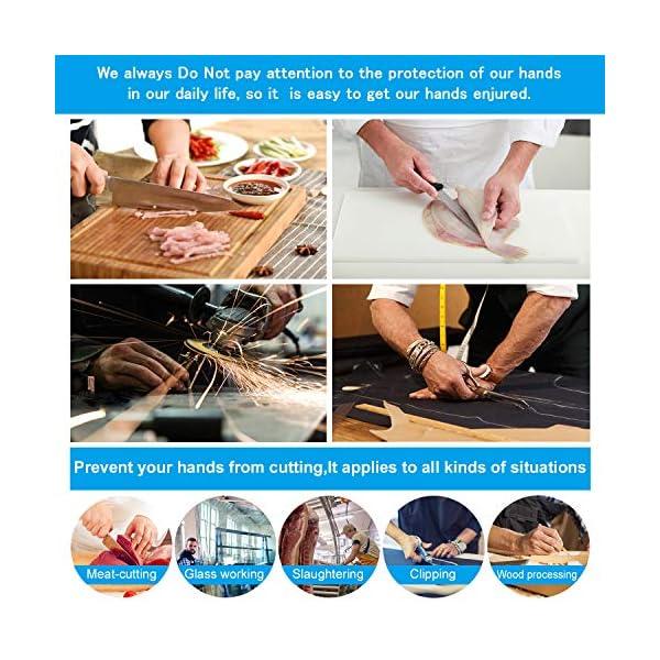 Guantes Aticorte Kasimir Guantes Resistents a los Cores Nivel 5 Seguridad para cocina Trabajo Mecánico y Jardín Seguridad alimentari a EN 388 1 Par/Tanmño S