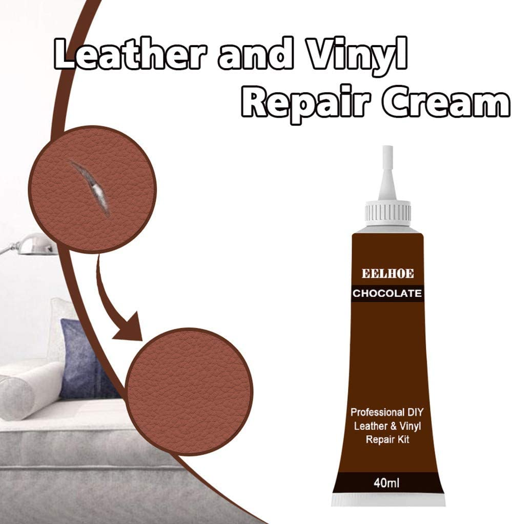 Goodjinhh 40 Ml Liquid Leather Leather Repair Cream Set For Leather Couch Leather Jacket Car Seat Sofa Coats C Auto