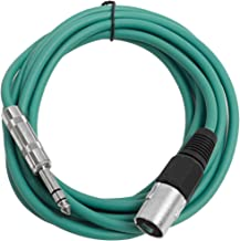 "Seismic Audio - SATRXL-M10 - Green 10' XLR Male to 1/4"" TRS Patch Cable"