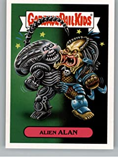 2018 Topps Garbage Pail Kids Oh The Horror-ible Modern Sci-Fi Sticker A #1A ALIEN ALAN Sticker Trading Card