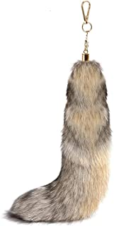 Real Fox Tail to Wear,Costume,Keychain,Huge Key Ring, Cosplay(15.7
