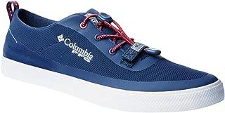 Columbia PFG Men's Dorado CVO PFG Boat Shoe,  Carbon,  Intense Red, 7.5