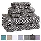 100% Cotton Bath Towels, Luxury 6 Piece Set - 2 Bath Towels, 2...