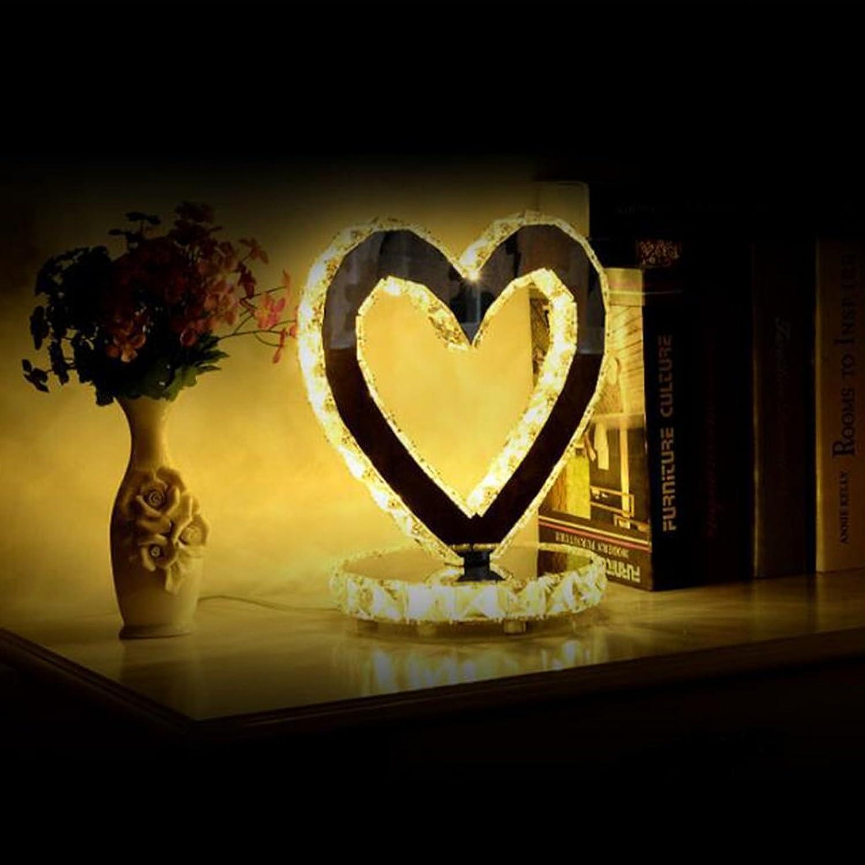 LEI ZE JUN UK- Crystal Tischleuchte Crystal Tischleuchte Schlafzimmer Nachttisch Tisch- & Nachttischlampen (Farbe   Yelloe light-S)