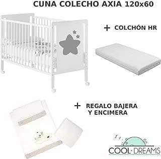 Cuna colecho de bebe Axia + Kit colecho + Colchón HR + 4