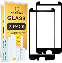 [2-Pack]-Mr.Shield for Motorola Moto Z2 Force Edition[Japan Tempered Glass] [9H Hardness] [Full Screen Glue Cover][Black] [Fit for Case Version] Screen Protector with Lifetime Replacement