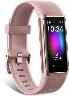LIFEBEE Pulsera de Actividad Inteligente Impermeable 5ATM para Hombre Mujer niños, Táctil Completa Reloj Inteligente con P...