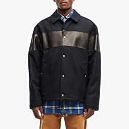 Leather Inset Wool Worker Jacket