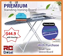 RC-Global RC-C60 Classic Premium Standing Ironing Board, 124 x 32cm