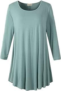 LARACE Women's 3/4 Sleeve Tunic Top Loose Fit Flare T-Shirt