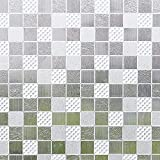LMKJ Static Preservation Glass Film Mosaic Privacy Protection Decorative Window Sticker, Used for Door and Window Glass Film A9 40x100cm