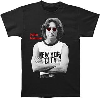 John Lennon - - T-Shirt ajusté NYC B & W pour Homme, X-Large, Black
