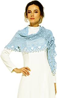 ZORJAR Scarfs for Women Winter Fashion Scarves Knitted Crochet Triangle shawls and wraps