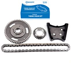 ECCPP TS13221 Timing Chain Kit Tensioner Guide Rail Crank Sprocket Cam Sprocket Replacement for 95-07 Buick Pontiac Chevrolet 3.1 3.4 3.5L V6 OHV 12V