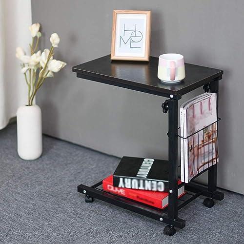 ZB Table D'appoint Table Basse Amovible élévation Latérale Table De Chevet Paresseux Support pour Canapé Bureau D'ordinateur Bureau A+ (Couleur   E)