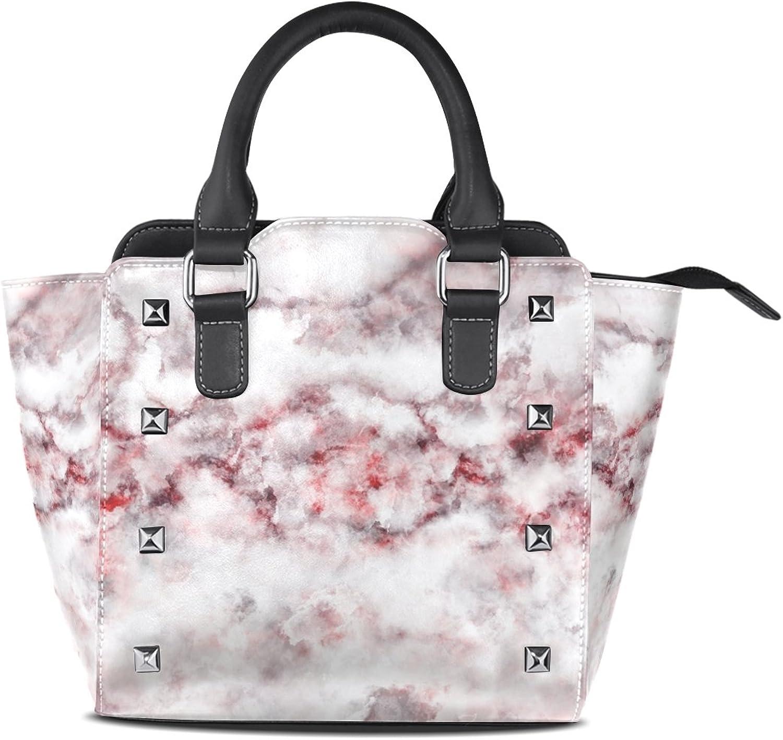 My Little Nest Women's Top Handle Satchel Handbag colorful Abstract Marble Pattern Ladies PU Leather Shoulder Bag Crossbody Bag