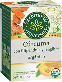 Traditional Medicinals Tea Turmeric Midwest Ginger Organic, 16 ct