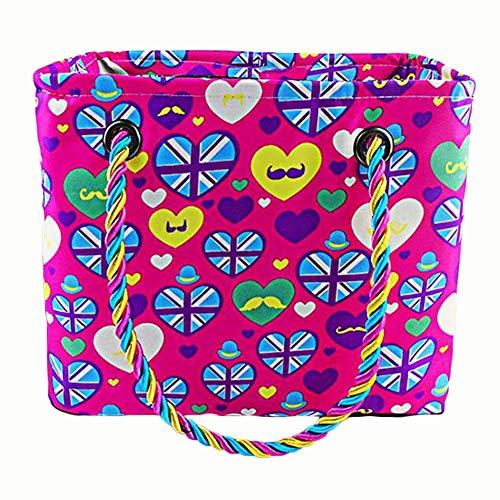 Yi-xirEl Bolso Favorito de Las Mujeres Bolso de Almacenamiento de Lavado de natación de Fitness Plegable de Secado rápido Mochila Bolso Diagonal (Color : Pink)