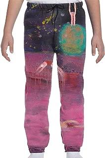LFCLOSET Teens Basic Active Jogger Sweatpants Elastic Sport Pants - Soul Pool Night2