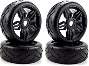 Apex RC Products 1/8 On-Road Black Diamond Wheels & Super Grip Tires - Set Of 4 #6025