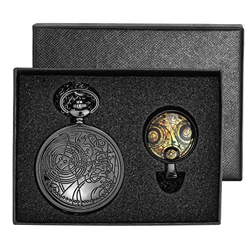 Vintage Pocket Watch & Necklace Gift Box