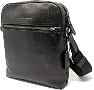 Houston Flight/Messenger Bag Smythe Leather (Black)