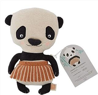 OYOY Mini dekorativ kudde lun lun panda björn – prydnadskudde/barnkudde för barn Vadderad bomull