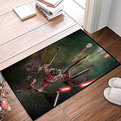 QDYLM Alfombra de baño de Microfibra esponjosa,Star Wars Spaceship Satellite Diseño mecánico Creativo Genial alfombras de Ducha de Suave Absorbente de Agua, 50x80 cm