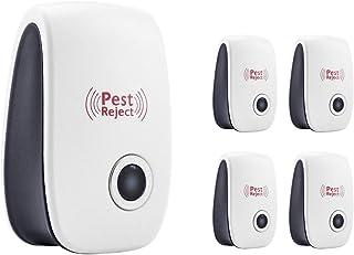 OMAYKEY 超音波式害虫駆除機 4個セット 改良版 害虫駆除 虫除け器 鼠/ゴキブリ/蚊/蟻/蜘蛛 立ち入り禁止 害虫を追い払う 広範囲に及ぶ 360° 有効 人気 コンパクト 先進技術