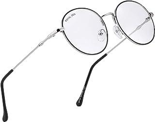 ROYAL SON Full Rim Metal Round Anti-Reflection Lens Eyeglasses Unisex Mens Women Optical/Spectacle/Eyewear Frame